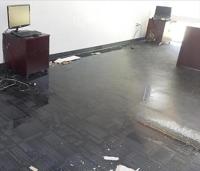How do you restore a large commercial flood damage? Before